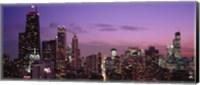 Chicago Buildings lit up at dusk Fine-Art Print