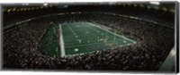 Spectators in an American football stadium, Hubert H. Humphrey Metrodome, Minneapolis, Minnesota, USA Fine-Art Print