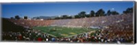 High angle view of spectators watching a football match in a stadium, Rose Bowl Stadium, Pasadena, California Fine-Art Print