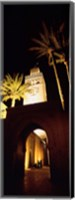 Low angle view of a mosque lit up at night, Koutoubia Mosque, Marrakesh, Morocco Fine-Art Print