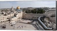 Tourists praying at the Wailing Wall in Jerusalem, Israel Fine-Art Print