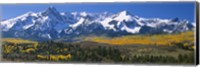 Mountains covered in snow, Sneffels Range, Colorado, USA Fine-Art Print