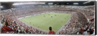 Crowd in a stadium, Sevilla FC, Estadio Ramon Sanchez Pizjuan, Seville, Seville Province, Andalusia, Spain Fine-Art Print