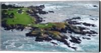 Golf course on an island, Pebble Beach Golf Links, Pebble Beach, Monterey County, California, USA Fine-Art Print