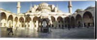Courtyard of Blue Mosque in Istanbul, Turkey Fine-Art Print