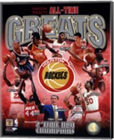 Houston Rockets All-time Greats Composite Fine-Art Print