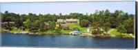 Buildings along Lake George, New York State, USA Fine-Art Print
