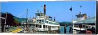 Minne Ha Ha Steamboat at dock, Lake George, New York State, USA Fine-Art Print