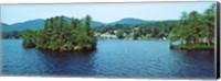 Wooded island, Lake George, New York State, USA Fine-Art Print