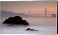 Rocks And Golden Gate Bridge Fine-Art Print
