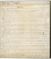 Constitution of the United States I Fine-Art Print