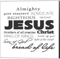 Jesus Christ White Fine-Art Print