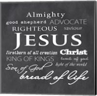 Jesus Christ Chalkboard Fine-Art Print
