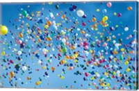 Holiday balloons drifting into the sky Fine-Art Print