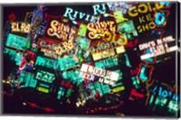 Double exposure, casino signs, Las Vegas, Nevada. Fine-Art Print