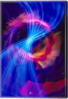 Blue and Pink Neon Lighting with Nightzoom Fine-Art Print