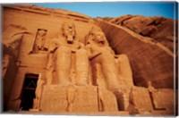 Statues, The Greater Temple, Abu Simbel, Egypt Fine-Art Print