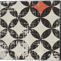Geometric Patchwork Puree Pumpkin Square V Fine-Art Print