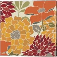 Modern Bouquet Spice Square Fine-Art Print