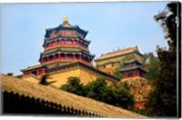 Tower in The Pavilion of Buddhist Fragrance, Beijing, China Fine-Art Print