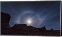 Moon Ring over Arches National Park, Utah Fine-Art Print