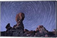 Star trails around the Northern Pole Star, Arches National Park, Utah Fine-Art Print
