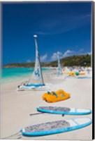 Antigua, Dickenson Bay, beach, sailboats Fine-Art Print