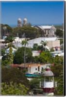 Antigua, St Johns, elevated city view Fine-Art Print