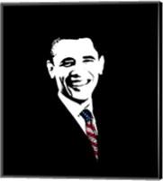 President Barack Obama with Flag Tie Fine-Art Print