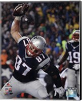 Rob Gronkowski Touchdown celebration AFC Championship Game 2014 Playoffs Fine-Art Print