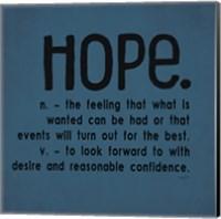 Definitions-Hope III Fine-Art Print