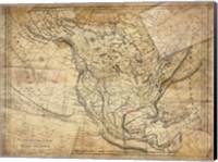 Vintage Map I Fine-Art Print