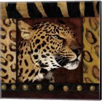 Leopard with Wild Border Fine-Art Print