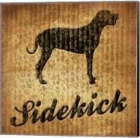 Sidekick (brown background) Fine-Art Print