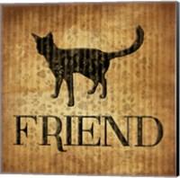 Friend (brown background) Fine-Art Print