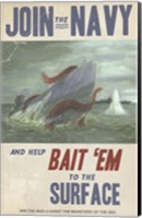 Sub Squid Navy Fine-Art Print