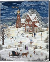 Christmas At Crystal Bay Lighthouse Fine-Art Print