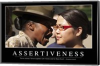 Assertiveness: Inspirational Quote and Motivational Poster Fine-Art Print