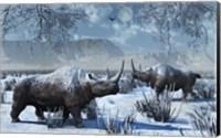 Woolly Rhinoceros in Winter Fine-Art Print