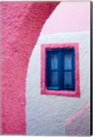 Colorful Pink Building, Imerovigli, Santorini, Greece Fine-Art Print