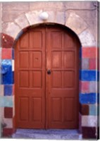 Old Brown Wooden Door, Rhodes, Dodecanese Islands, Greece Fine-Art Print