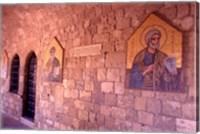 Wall Mosaics in the Cloister, Filerimos Monastery, Rhodes, Dodecanese Islands, Greece Fine-Art Print