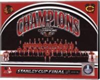 Chicago Blackhawks 2015 Stanley Cup Champions Team Sit Down Photo Fine-Art Print