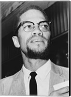 Malcolm X at Queens Court Fine-Art Print