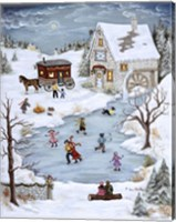 Skating On Christmas Eve Fine-Art Print