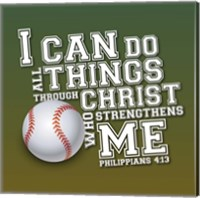 I Can Do All Sports - Baseball Fine-Art Print