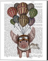 Pig And Balloons Fine-Art Print