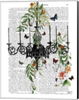 Chandelier With Vines and Butterflies Fine-Art Print