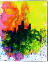 Chicago Watercolor Skyline Fine-Art Print