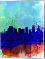 Portland Watercolor Skyline Fine-Art Print